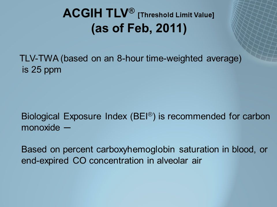 ACGIH TLV® [Threshold Limit Value]